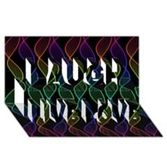 Rainbow Helix Black Laugh Live Love 3d Greeting Card (8x4) by designworld65