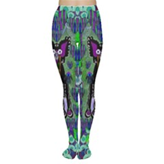 Lady Draccula With Flower Ghost And Love Women s Tights by pepitasart