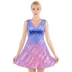 Baby Pattern V-Neck Sleeveless Skater Dress by AnjaniArt