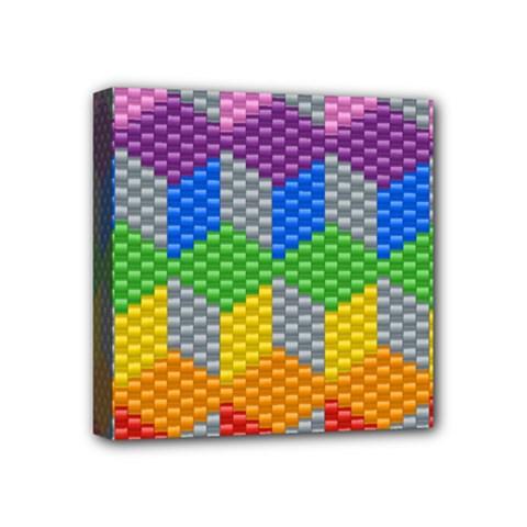 Block Pattern Kandi Pattern Mini Canvas 4  X 4  by AnjaniArt