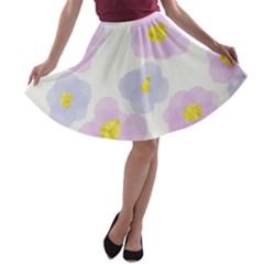 Watercolor Flower Skirt by Lsmlandin