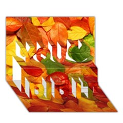 Colorful Fall Leaves You Did It 3d Greeting Card (7x5)