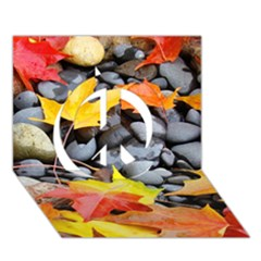 Colorful Leaves Stones Peace Sign 3d Greeting Card (7x5) by AnjaniArt