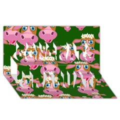 Cow Pattern Congrats Graduate 3d Greeting Card (8x4) by AnjaniArt
