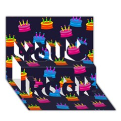 Seamless Tile Repeat Pattern You Rock 3d Greeting Card (7x5) by AnjaniArt