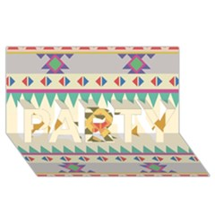 Your First Aztec Pattern Party 3d Greeting Card (8x4) by AnjaniArt