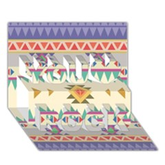 Your First Aztec Pattern You Rock 3D Greeting Card (7x5) by AnjaniArt