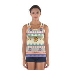 Your First Aztec Pattern Women s Sport Tank Top  by AnjaniArt