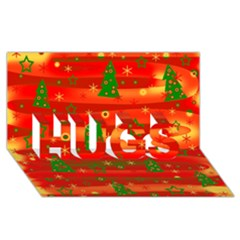 Xmas Magic Hugs 3d Greeting Card (8x4) by Valentinaart