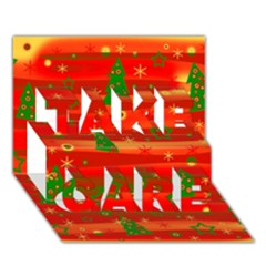 Xmas Magic Take Care 3d Greeting Card (7x5) by Valentinaart