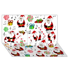 Xmas Song #1 Dad 3d Greeting Card (8x4) by Valentinaart