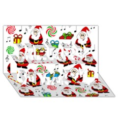 Xmas Song Merry Xmas 3d Greeting Card (8x4) by Valentinaart