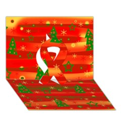Christmas Magic Ribbon 3d Greeting Card (7x5) by Valentinaart