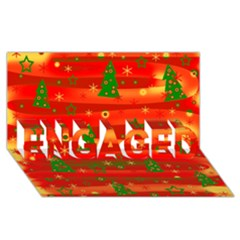 Christmas Magic Engaged 3d Greeting Card (8x4) by Valentinaart