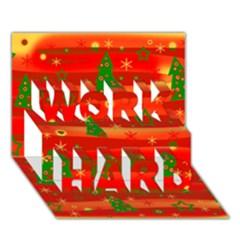 Christmas Magic Work Hard 3d Greeting Card (7x5) by Valentinaart