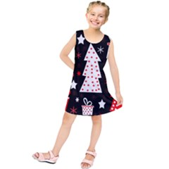 Red playful Xmas Kids  Tunic Dress by Valentinaart
