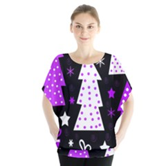 Purple Playful Xmas Blouse by Valentinaart