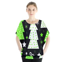 Green Playful Xmas Blouse by Valentinaart