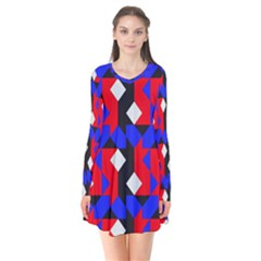 Pattern Abstract Artwork Flare Dress by Zeze