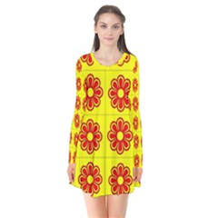 Pattern Design Graphics Colorful Flare Dress by Zeze