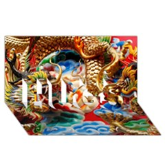 Thailand Bangkok Temple Roof Asia HUGS 3D Greeting Card (8x4) by Zeze