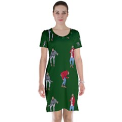 Drake Ugly Holiday Christmas 2 Short Sleeve Nightdress by Onesevenart