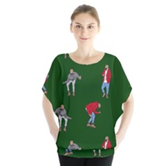 Drake Ugly Holiday Christmas 2 Blouse by Onesevenart