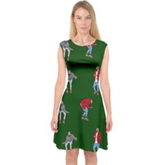 Drake Ugly Holiday Christmas 2 Capsleeve Midi Dress by Onesevenart