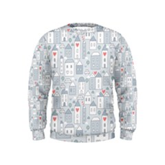 Houses Pattern Kids  Sweatshirt by Mishacat