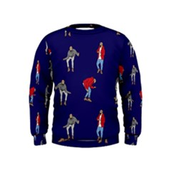 Drake Ugly Holiday Christmas Kids  Sweatshirt by Onesevenart