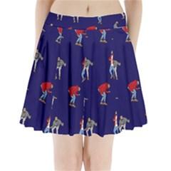 Drake Ugly Holiday Christmas Pleated Mini Skirt by Onesevenart
