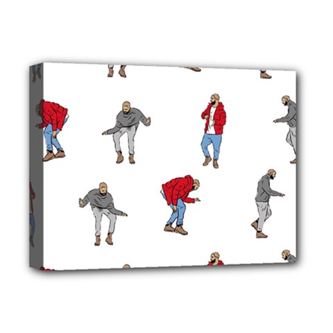 Drake Ugly Holiday Christmas Deluxe Canvas 16  X 12   by Onesevenart