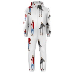 Drake Ugly Holiday Christmas Hooded Jumpsuit (men)  by Onesevenart