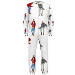 Drake Ugly Holiday Christmas Onepiece Jumpsuit (men)  by Onesevenart