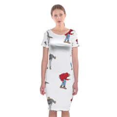 Drake Ugly Holiday Christmas Classic Short Sleeve Midi Dress by Onesevenart