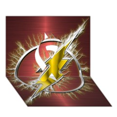Flash Flashy Logo Ribbon 3d Greeting Card (7x5) by Onesevenart