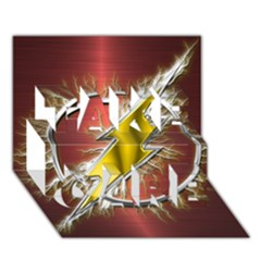 Flash Flashy Logo Take Care 3d Greeting Card (7x5) by Onesevenart