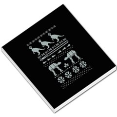Holiday Party Attire Ugly Christmas Black Background Small Memo Pads by Onesevenart