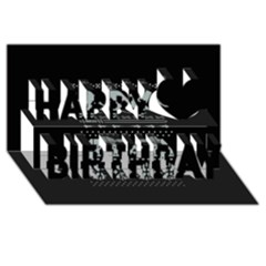 Holiday Party Attire Ugly Christmas Black Background Happy Birthday 3d Greeting Card (8x4) by Onesevenart
