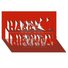 Holiday Party Attire Ugly Christmas Red Background Happy Birthday 3d Greeting Card (8x4)