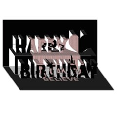 I Juan To Believe Ugly Holiday Christmas Black Background Happy Birthday 3d Greeting Card (8x4) by Onesevenart