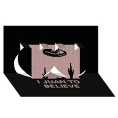 I Juan To Believe Ugly Holiday Christmas Black Background Twin Hearts 3d Greeting Card (8x4) by Onesevenart