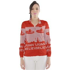 I Juan To Believe Ugly Holiday Christmas Red Background Wind Breaker (women) by Onesevenart