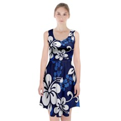 Blue Hibiscus Racerback Midi Dress by TailWags