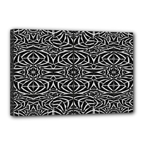 Black And White Tribal Pattern Canvas 18  X 12  by dflcprints