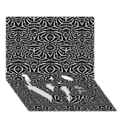Black And White Tribal Pattern Love Bottom 3d Greeting Card (7x5) by dflcprints