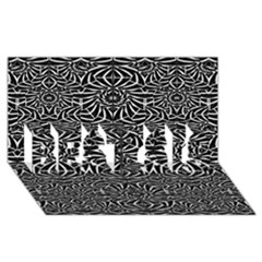 Black And White Tribal Pattern Best Sis 3d Greeting Card (8x4) by dflcprints