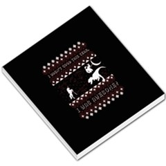 I Wasn t Good This Year, I Was Awesome! Ugly Holiday Christmas Black Background Small Memo Pads by Onesevenart