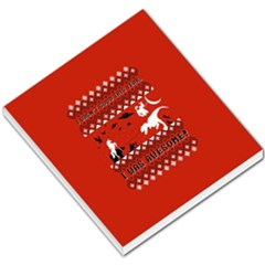 I Wasn t Good This Year, I Was Awesome! Ugly Holiday Christmas Red Background Small Memo Pads by Onesevenart