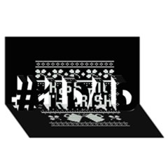 Kiss Me I m Irish Ugly Christmas Black Background #1 Dad 3d Greeting Card (8x4) by Onesevenart